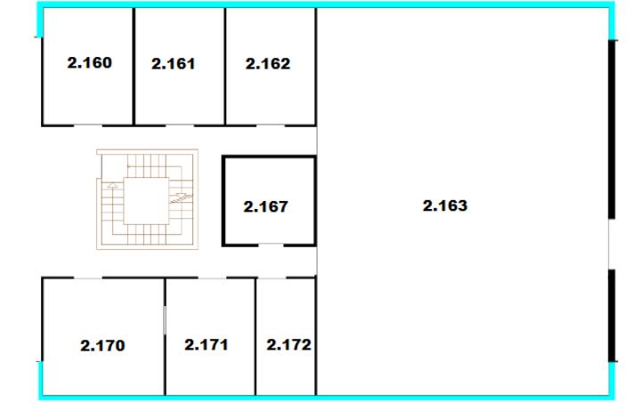 Raumplan Pfaffenwaldring 47, 2. Obergeschoss