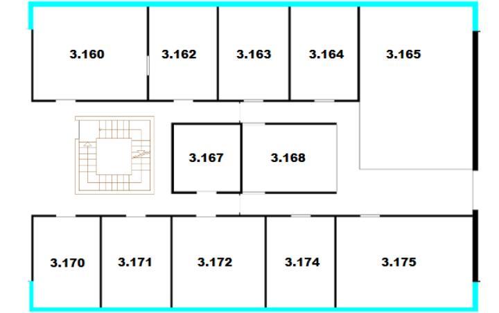 Raumplan Pfaffenwaldring 47, 3. Obergeschoss