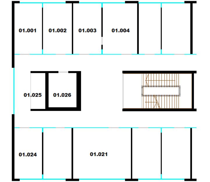 Raumplan Pfaffenwaldring 5b, 1. Obergeschoss