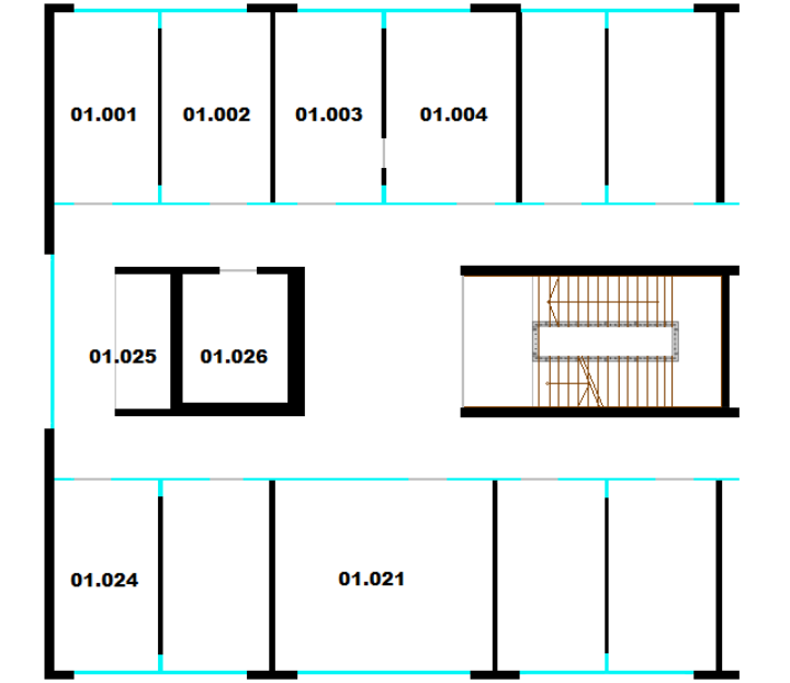 Floor Plan Pfaffenwaldring 5b, 1st Floor